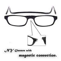 Black Frame Reading glasses eyeglass Readers Convenience hang neck +1.0 -- +4.0