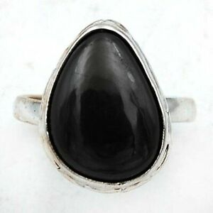 Natural Hematite 925 Solid Sterling Silver Ring Jewelry Sz 9, ED16-5