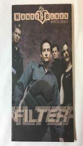 2002 House Of Blues calendar brochure~FILTER,GWAR,DASHBOARD CONFESSIONAL, more