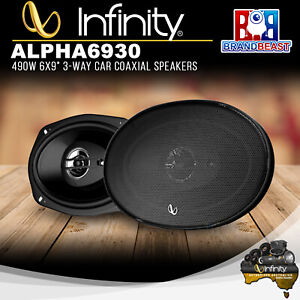 "Infinity ALPHA 6930 490W 6x9"" 3-Way Car Coaxial Speakers"