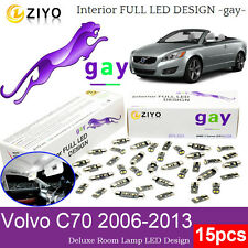 15 Bulbs Deluxe LED Interior Light Kit Xenon White Lamps For 2006-2013 Volvo C70