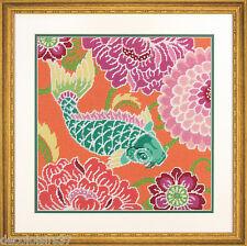Dimensions 71-20076 Karpfen Koi in der Blumen Satz Stickbild schmale Punkt