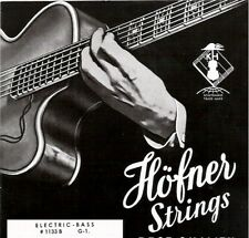 NEW HOFNER FLATWOUND VIOLIN CLUB BASS GUITAR STRINGS Green Silk Wrap 1133B