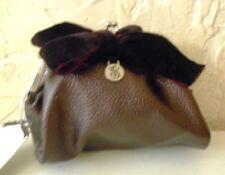 NEW Victoria Secret Designer Plum Evening Bag Jewelry Pouch Velvet Bow Free Ship