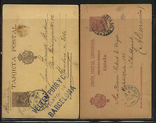 Spain  2 early postal cards to  Germany       MM0603