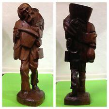 Antique Chiffre en bois homme Déco Objet de collection