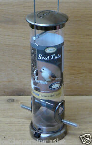 Aspects Small Nickel Quick Clean Mixed Seed Tube Wild Bird Feeder #391