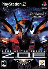 Z.O.E.:Zone of The Enders (Sony PlayStation)ps2 ps3 Black Label! Konami Big Fun!