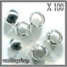 lot 100 perles a écraser argent apprêt bijoux 2 mm NEUF