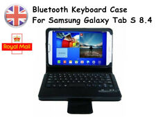 Black PU Leather Bluetooth Keyboard Case for Samsung Galaxy Tab S 8.4 T700 T705