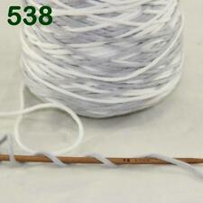 1 Cone 400g Worsted Cotton Chunky Super Bulky Hand Knitting Yarn Gray White