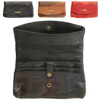 Ladies Womens Soft Large Genuine Lightweight Patchwork Leather Purse Wallet