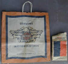2 Old Original Harley Davidson Motorcycle Part Bags Orig. Logo 1950's Very Rare