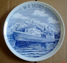 Collectors Plate M/S DISKO Ship