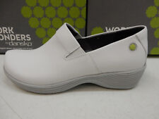 DANSKO WOMENS CLOGS WORK WONDERS CORAL WHITE LEATHER SIZE EU 40