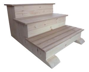 Solid Wooden Steps Caravan Boat Hot Tub Jacuzzi Equestrian Pet Steps