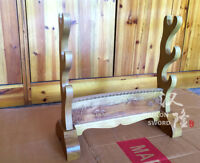 3 Layer Real Wooden Crane Design Japanese Sword Holder Stand Katana Rack Display