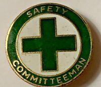 "VINTAGE ""SAFETY COMMITTEEMAN"" Pinback button"