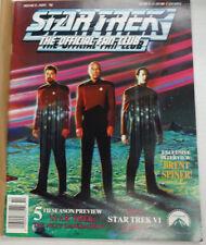 Star Trek Fan Club Magazine Brent Spiner & 5th Season November 1991 052615R2