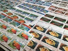 Fishes sea life under water creatures stamps for Craft or to collect R24780