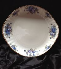 Royal Albert Moonlight Rose Blue Floral Cake Plate Bone China England