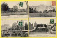 LOT 4 cpa ST FLORENTIN (Yonne) Église ASILE Bateau PONT CANAL Halage l'ARMANCE