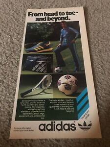 Vintage 1970s SOCCER Shoes Poster Print Ad NASL BALL DUFFLY GYM BAG TRACK SUIT