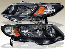 2006-2011 Honda Civic 2Dr Coupe Black Housing Headlights