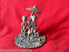 World Rare Vintage African Tribal People Liberian Hand Carved Brass Fine Art #07