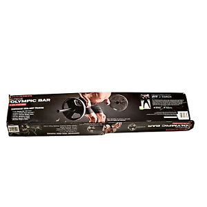 Weider 25.5lbs 7ft Olympic Bar for 2 inch Weight Plates - 3 Pieces With Clips