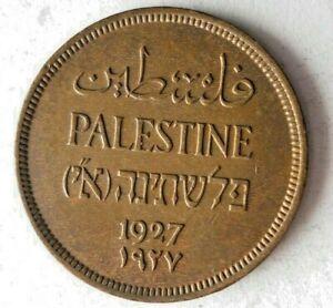 1927 PALESTINE MIL - AU - Excellent Hard to Find Coin - Lot #L21