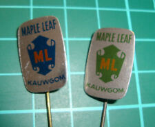 Maple Leaf ML chewing gum pin badge 60's 2pcs speldje kauwgom