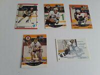 Lot Boston Bruins: Ray Bourque 1990 Score, 2 Cam Neely 90 Proset cards + A. Moog