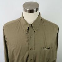 Bobby Jones Mens Cashmere Blend LS Button Down Taupe Tan Dress Shirt Size XL
