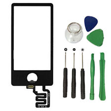 For iPod Nano 7 7th Digitizer Touch Screen Glass Panel Replacement Black w Tools