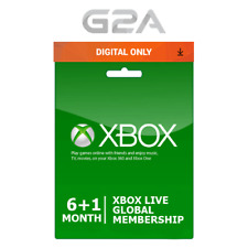 Xbox Live Gold 6 Month +1 Membership Code- Microsoft Xbox 360/One [7 Months] Key
