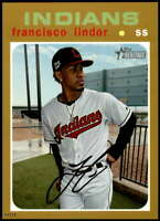 Francisco Lindor 2020 Topps Heritage 5x7 Gold #442 /10 Indians