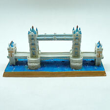 Iconic symbol of London Tower Bridge Miniature painted blue, white & red brown