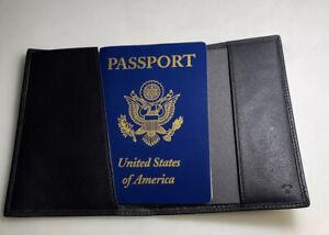 Tumi passport holder Leather Black