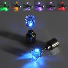 1 Pair Light Up LED Bling Earrings Ear Studs Dance Party Accessories Blinking