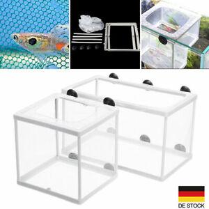 Aquarium Netz Ablaichkasten Aufzuchtskasten Ablaichnetz Aufzuchtbecken S/L Neu