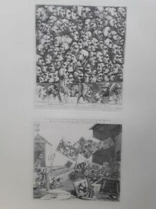 """""""William Hogarth"""" Characters and Caricaturas Battle of the Pictures"""