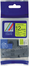 12mm TZ-C31 Black on Fluo Yellow Compatible Brother Label Tape TZe-C31 P Touch