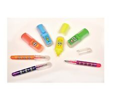 Scented Mini Highlighters & Gel Pens Kids Set 7 pcs Children Crafts Creative Toy