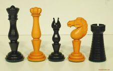 "DELUXE EBONY SIMPSON'S-IN-THE-STRAND CHESS MEN, PRE-STAUNTON SET K=4¼"" (799)"