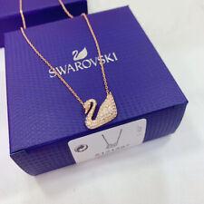 Swarovski ICONIC SWAN gold swan pendant Necklace jewelry