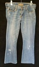 Abercrombie & Fitch Distressed Denim Jeans Legs Taken Up See Measurement Size 2