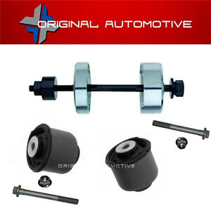 fits FORD FIESTA MK7 2008> REAR AXLE TRAILING ARM BUSHES BOLTS & INSERTION TOOL