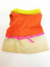 "Vintage 1967 Tagged Mattel 11"" Baby Small Walk Doll Orange Dress Clothes"