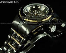 New Invicta Mens Stainless Steel Bolt Zeus Chronograph Watch W/ Gold Tone Cables